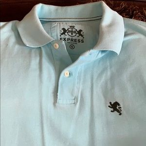 Express men's small polo. Mint green or turquoise